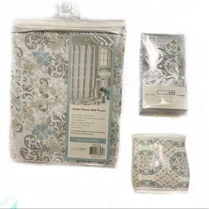Medallion Fabric Shower Accessory 6 Piece Set